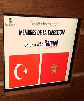 Ett besök till Koutoubia holding, som är ett gigantisk marockanska mattillverkare