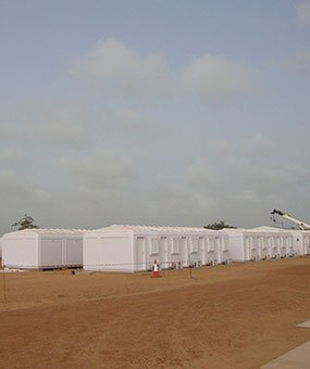 Installation av modulära administrations stugor blev slutfört i Senegal