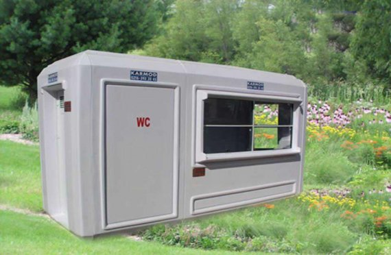 150x390 Portabel Toalett & Säkerhets Stuga