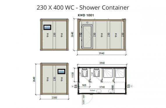 KW4 230X400 Dusch Container