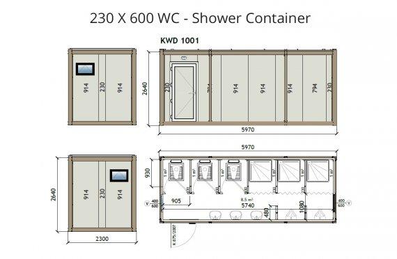 KW6 230x600 Dusch Container