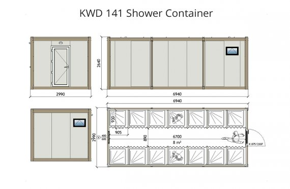 KWD 141 Dusch Container