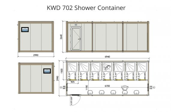 KWD 702 Dusch Container