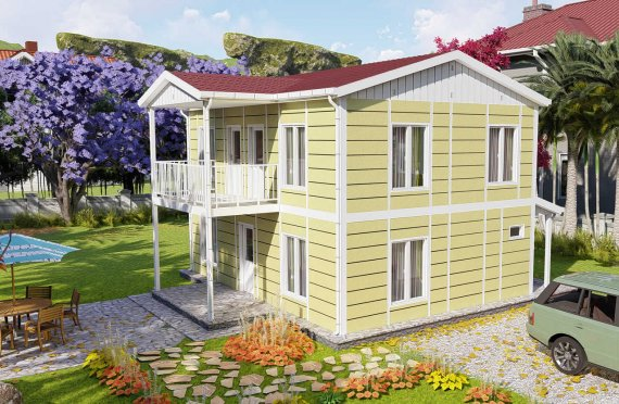 Modulhus Villa 128 m2