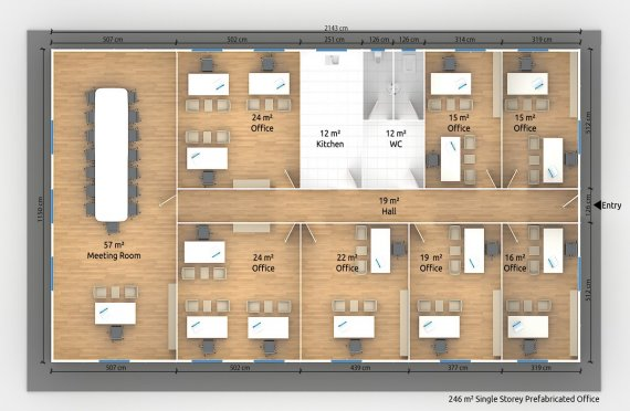 Modulär Kontor Byggnad 246 m²