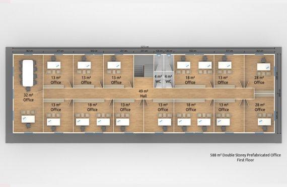 Modulär Kontor Byggnad 588 m²
