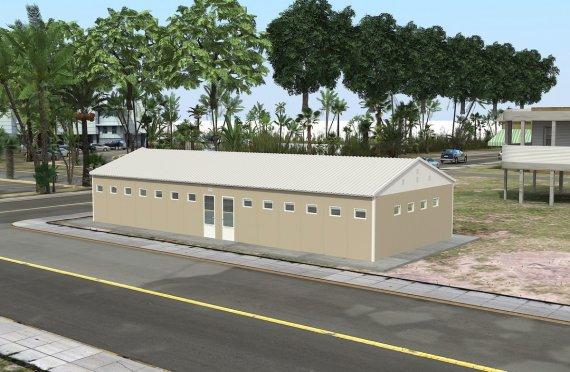 Prefabricerad Toalett och Dusch Byggnad 145 m²