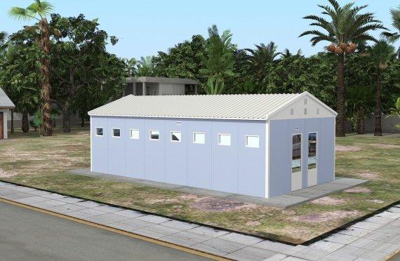 Prefabricerad Toalett & Dusch Byggnad 52 m²