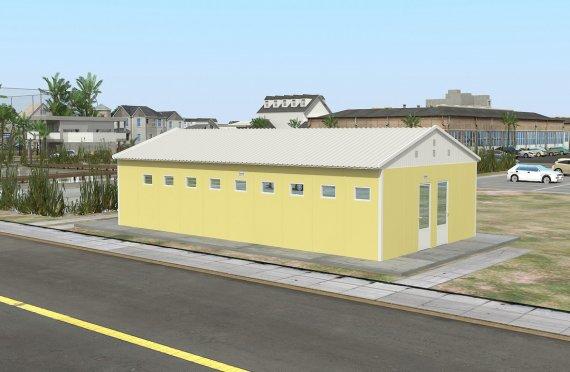 Prefabricerad Toalett & Dusch Byggnad 82 m²