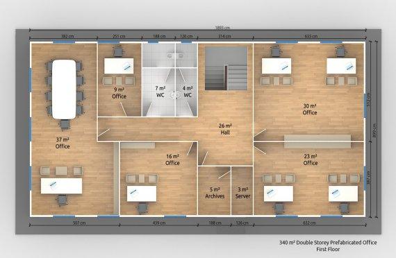 Modulär Kontor Byggnad 340 m²