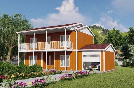 Bygger modulhus villa för hela livet