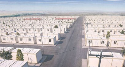 Container bostadsprojekt för syriska flyktingar