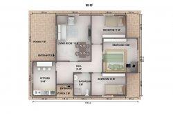 En Vånings Prefabricerad Hus